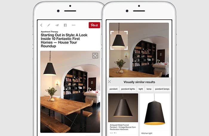 AI Pinterest Visual Search Example